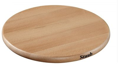 法國 Staub 木製 磁鐵鍋墊 桌墊 圓形 23cm   現貨
