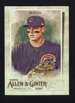 2020 Topps Allen and Ginter #86 Anthony Rizzo - Chicago Cubs