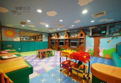 @瑞寶旅遊@五星級~台中長榮桂冠【豪華客房】『加大床135cm寬*2張~適合親子入住』兒童遊戲室(球池)、溫泉水療池