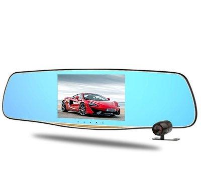 ☆ 福利品 ☆ 雙鏡頭後視鏡行車記錄器 FULL HD/廣角140度/5吋TFT螢幕/支持倒車顯影