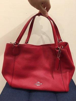 全新紅色COACH包包(附背帶)