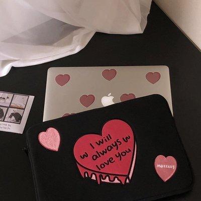 洋碼頭 韓國mazzzzy平板11寸/13/15寸筆記本內膽包防撞電腦包愛心蛋糕ins IDEA-164