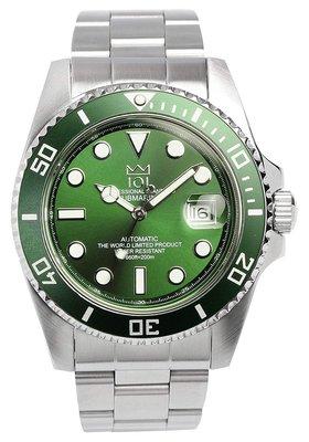 日本正版 HYAKUICHI 101 hyaku1-007 綠色 機械式 男錶 男用 手錶 CITIZEN機芯 日本代購