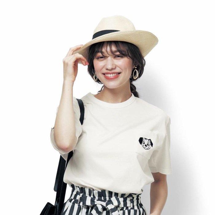 Co媽日本精品代購 日本 正版 迪士尼 純棉 刺繡 T恤 大尺寸 S~3L T恤