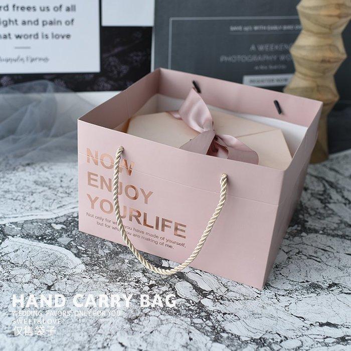 衣萊時尚-熱賣款 ins創意婚禮伴手禮盒手拎袋結婚伴娘伴郎回禮袋XL11