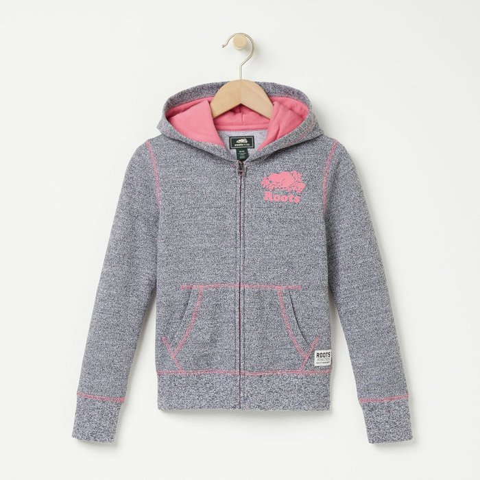 ~☆.•°莎莎~*~☆~~加拿大 ROOTS GIRLS ORIGINAL FULL ZIP HOODY ~