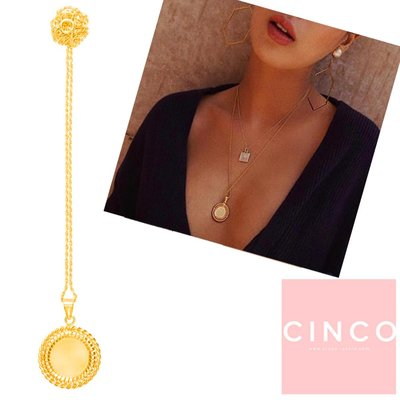 CINCO 葡萄牙精品 FRANCES NECKLACE 24K金硬幣項鍊 編織桂冠項鍊