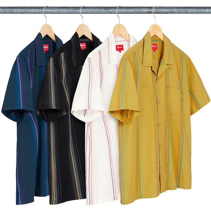 【美國鞋校】預購 SUPREME SS19 Vertical Stripe S/S Shirt 襯衫