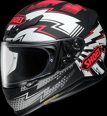 《鼎鴻》 SHOEI全罩式彩繪安全帽 Z-7 VARIABLE TC-1 消光黑/紅