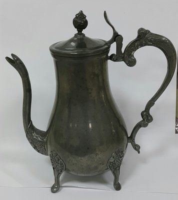 241 高級英格蘭鍍銀壺 Four Footed Teapot, Vintage Gothic Victorian