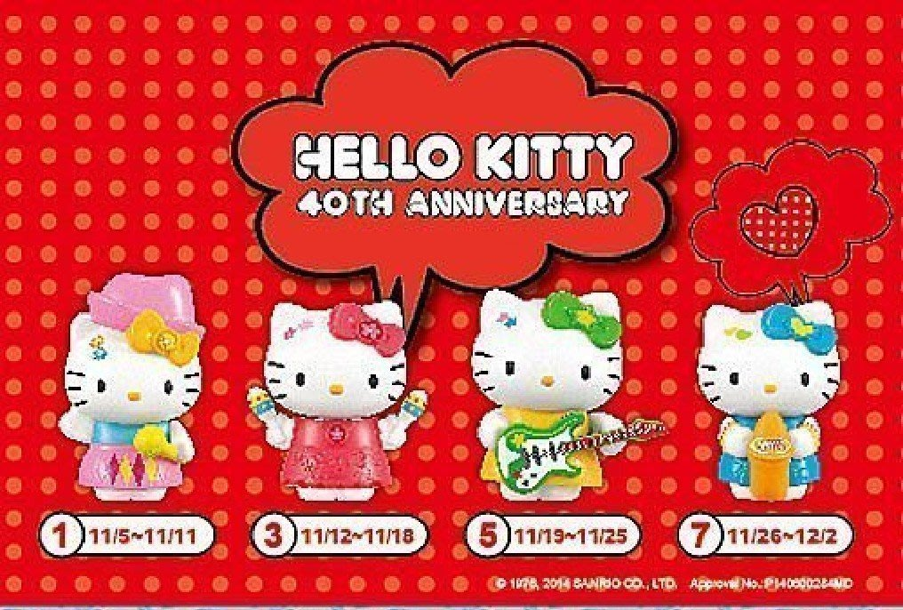 2015年麥當勞hello kitty每套4款只要99元 現貨不用等