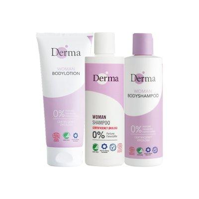 Derma女性沐浴護理三入組