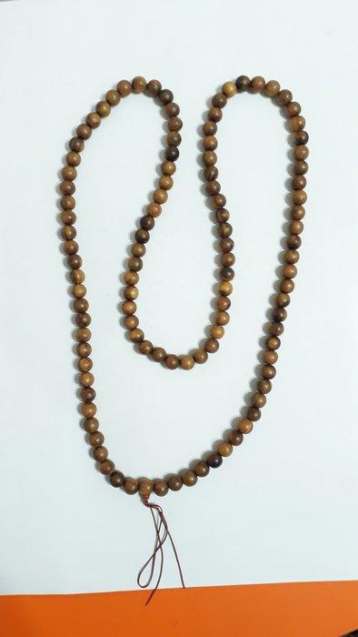 【九龍藝品】肖楠108顆佛珠 ~ 手珠約14mm.重量約150公克 【6】競標