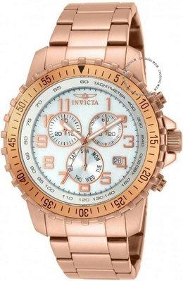 展示品 Invicta 14847 Specialty Chronograph Tachymeter Day Date Rose tone Mens