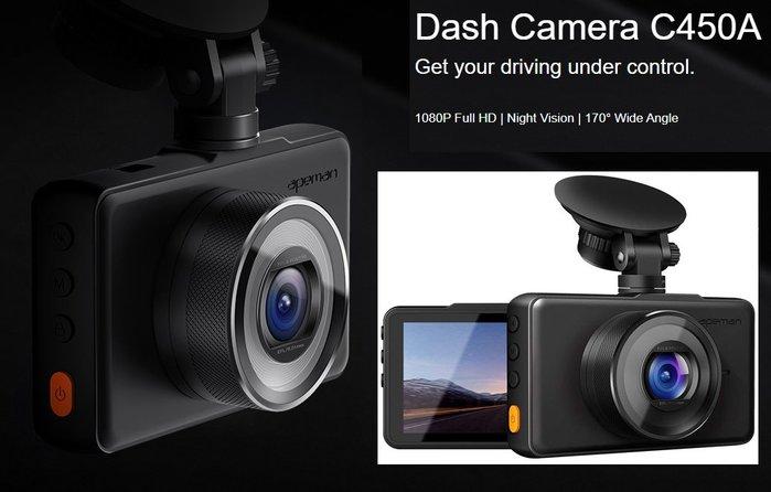 呈現攝影-Apeman C450A 前視單鏡頭 行車紀錄器 中文介界 1080P G傳感器 3寸螢幕 運動檢測