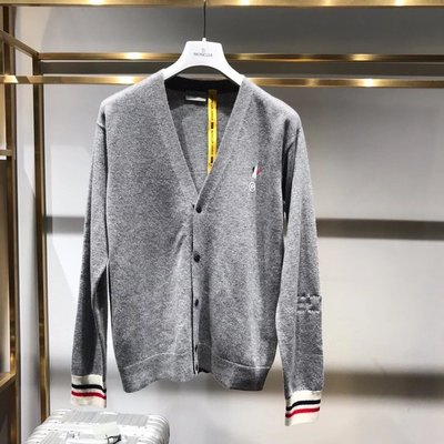 【BLACK A】精品 法盟M牌 x Fragment 藤原浩2018聯名羊毛針織外套【頂級】灰色 專櫃同款