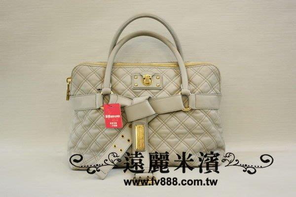【遠麗】台北大安店~A6352 MARC JACOBS MJ 牛皮 藕色 前 蝴蝶節 手提 棍把包 真品/正品