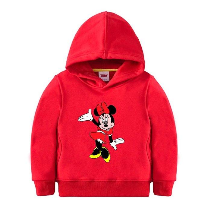 【童裝】韓版米老鼠米奇童裝百搭衛衣男女童衣服兒童裝加絨加厚百搭衛衣紅色班服演出服