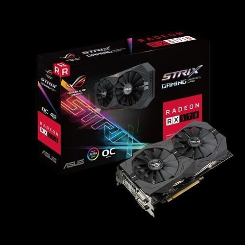 ASUS ROG STRIX RX570 O4G Gaming 2023.2一張 有盒