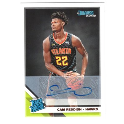 (新人RC簽名卡) Cam Reddish / Donruss Rated Rookie系列正規新人簽名卡 2019-20 Autograph