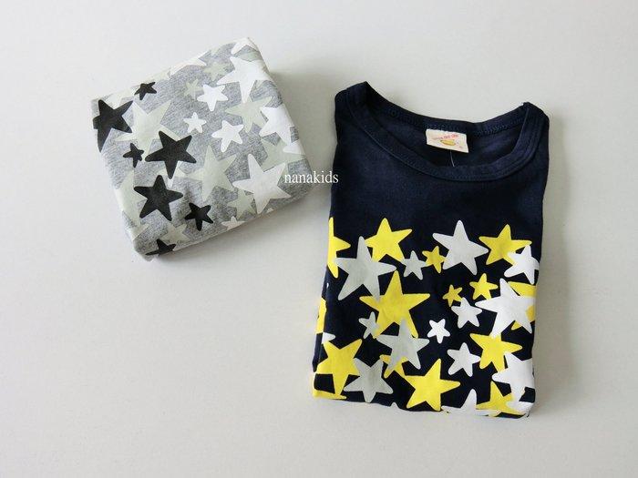 出清夏日款。男童裝。韓版星星T恤 短袖T恤  (藍/灰) 現貨~nanakids娜娜童櫥