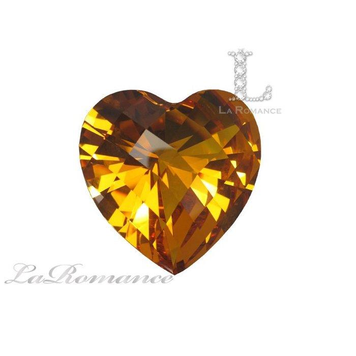 【芮洛蔓 La Romance】璀璨心型水晶鑽 – 琥珀色 / 熱忱 / 喜悅 / 活潑 / 華麗 / 求婚 / 情人節