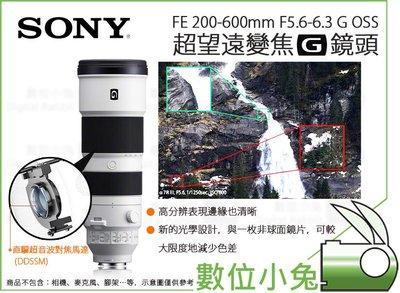數位小兔【SONY 200-600mm...