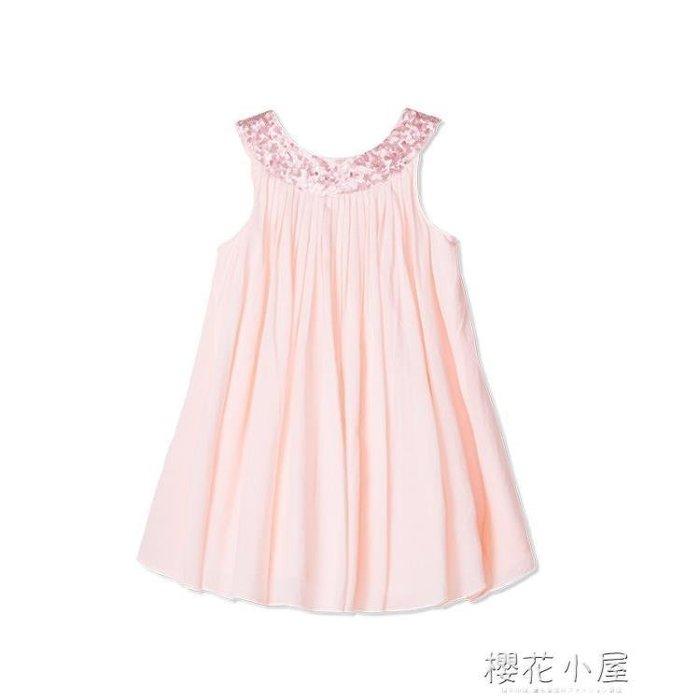 純棉女童吊帶裙 樂都特2018法國童裝夏新品 兒童無袖連身裙 KP758