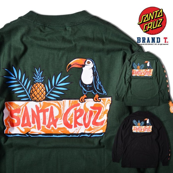 【Brand T】Santa Cruz TOUCAN PLAY L/S T-SHIRT 鳳梨*吶喊之手*薄長T*2色