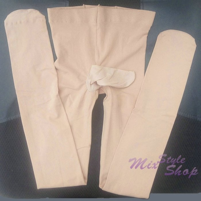 MIX style SHOP【S-342】日本原單❤超彈力120D天鵝絨男用JJ套型不開口防勾絲加襠彈性褲襪~(6色)