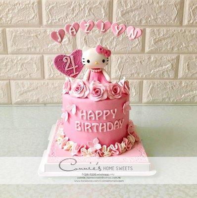 【Connie's Home Sweets】Hello Kitty Cake 百日宴蛋糕專門店 生日蛋糕專門店 手工蛋糕 Birthday cake