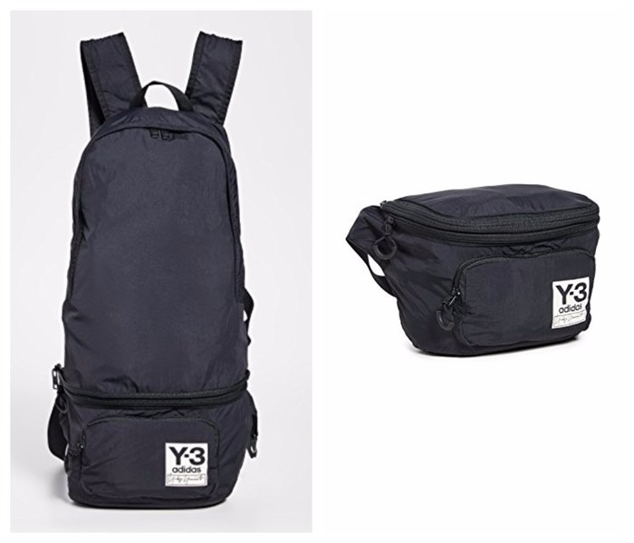 【BJ.GO】Adidas Y-3 山本耀司_Y-3 PACKABLE BACKPACK 時尚折疊後背包/斜背包/腰包