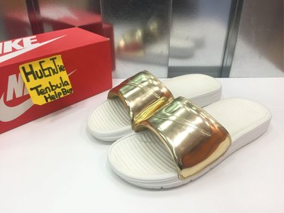 Nike Benassi Solarsoft Slide SP 696116-770 金色 拖鞋 現貨 us11 全新