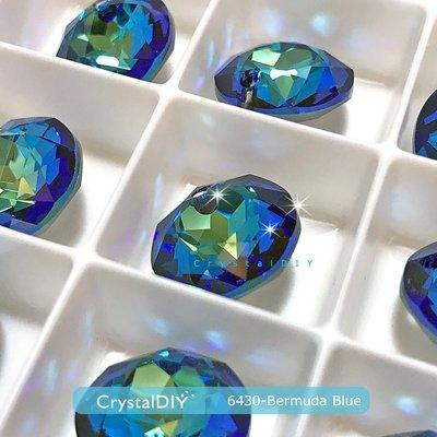 百慕達藍水晶吊墜 施華洛世奇#6430經典切割吊墜Bermuda Blue (001BBL)14mm