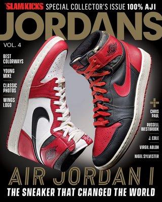 全新SLAM籃球雜誌Air Jordan 1球鞋特輯 ~ 3 4 6 11 14 Bred 芝加哥 黑紅 黑頭 公牛王朝
