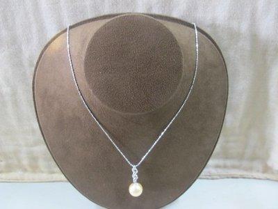 二手鋪 NO.4228 大東山珠寶 黃金南洋貝寶珠墜鍊 硨磲貝寶珠 首飾飾品