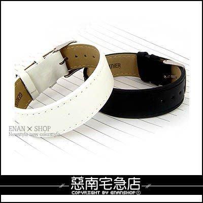 惡南宅急店【3476A】韓版高質感『素面質感皮革手環』可當對鍊錶扣設計。單條區