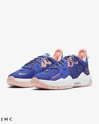 NIKE PG 5 EP LA DRIP 藍粉 XDR 緩震 運動籃球鞋 男鞋 CW3146-400
