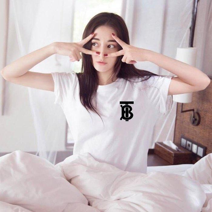 ❤Princess x Shop❤寬鬆字母短袖t恤DL19040620正韓國連線吊帶褲蕾絲一字領露肩