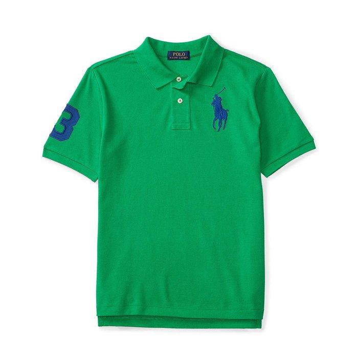 美國百分百【Ralph Lauren】Polo 衫 RL 短袖 網眼 上衣 寶藍大馬 男款 XS S號 綠色 B003