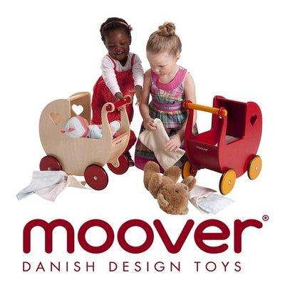 【MissCoCo】丹麥木工專家moover小孩的學步小推車 木製裝扮娃娃推車 木製學步車 彌月禮 小孩生日禮物