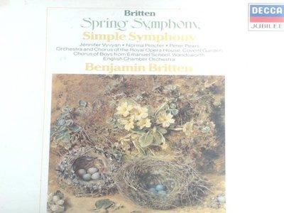 A-2-25荷版古典-Decca/410 171-1/普蘿克特,女低音/布列頓:春天&簡單交響曲/布列頓-英國室內管弦