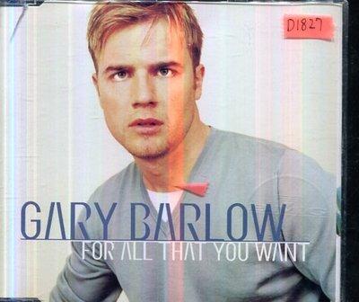 *還有唱片四館* GARY BARLOW / FOR ALL THAT YOU WANT 二手 D1827