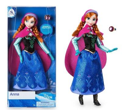 【美國大街】正品.美國迪士尼冰雪奇緣安娜芭比娃娃 Frozen Anna 11.5吋 / 29cm