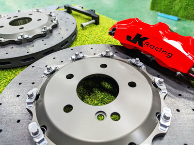 JK Racing 前 SS2 六活塞卡鉗組 搭配 330mm 碳纖維 陶瓷碟盤 BENZ W210 E240 專車專用