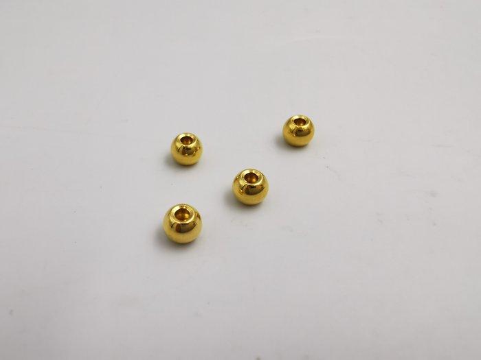 %玉承珠寶% 3D立體硬金純金9999亮面圓珠串珠GB24(現貨不用等)