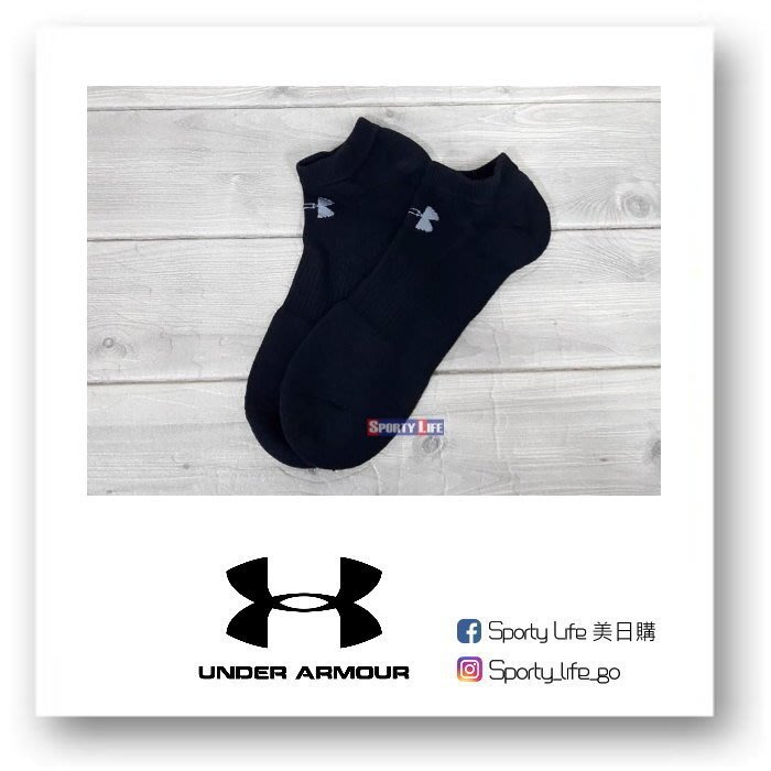 【SL美日購】UNDER ARMOUR COTTON SOCKS 短襪 襪子 踝襪 運動襪 UA UA短襪 黑色