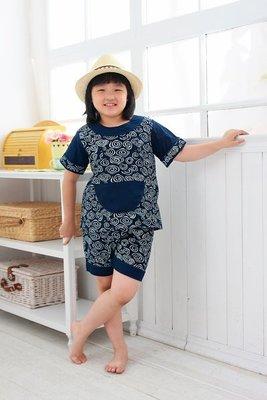 !!((中國藍Anewei))客家藍染寶寶圓領套裝~M.L~寶寶系列任選兩組特惠999