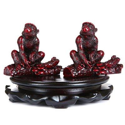 【熱賣下殺價】 生肖屬鼠猴靈猴賜寶吉祥物請購福祿聚候猴桃報喜男女金猴賜瑞擺件
