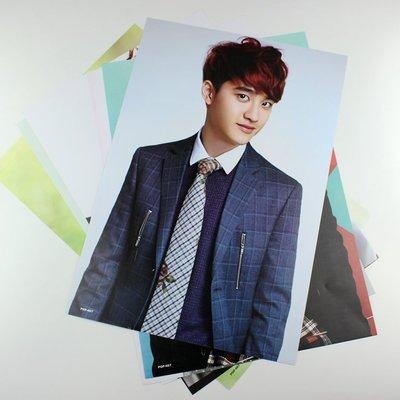 【獨家預購】EXO-K嘟景秀D.O.單人海報8張裝 韓國港台明星壁畫牆貼紙壁紙